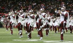 """Can't create an HBCU board without starting with an image from my beloved North Carolina Central University!  Give it up for the """"Marching Sound Machine""""."""