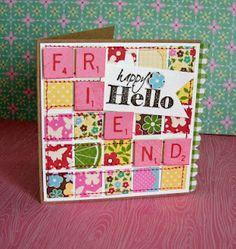scrabble patchwork...love! --   scrapbook inspiration