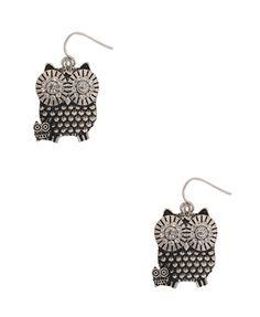 double owl earrings