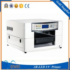 2017 new products  wood glass metal acrylic pvc  Flatbed UV printer with water cooling system