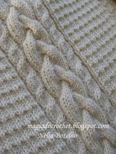 Magia do Crochet knitting cables...