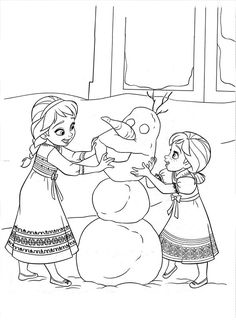 figuras para colorear de frozen