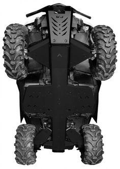 Dieser Komplettrt Unterfahrschutz aus hochwertigem Aluminium ist bestens für den Einsatz unter schweren Bedingungen geeignet und schützt A-Arms, Motor, Trittbretter (Fußraum) sowie die Außenkanten Ihres ATV´s vor beschädigungen