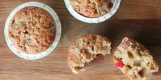 Rhubarb muffins with ginger and coconut #recipe