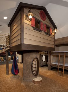 lofty ideas indoor jungle gym. Beautiful Tree Loft Bed  Could incorporate shelving branches and a birdhouse for storage Lofty Idea Pinterest Birdhouse Lofts Storage
