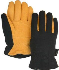 Majestic 1664 Gold Deerskin Split Leather Driver Gloves Heatlok Lined (DOZEN)