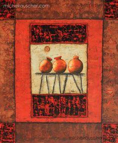 Michel RAUSCHER | Peintures - Huile sur bois - 50 x 60 cm - 2000