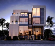 Get exterior design ideas for your modern house elevation with our 50 unique modern house facades. We show luxury house elevations right through to one-storeys. Villa Design, Facade Design, House Design, Modern Exterior, Interior Exterior, Exterior Design, Front Elevation Designs, House Elevation, Modern Residential Architecture