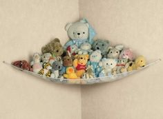 Soft Toy Corner Hammock for Baby Teddy Storage Top Quality Item for sale online Baby Playroom, Nursery Toys, Nursery Storage, Baby Nursery Decor, Children Playroom, Teddy Storage, Kids Storage, Storage Boxes, Storage Ideas