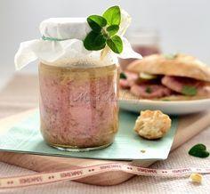 Kiełbasa w słoiku Cold Cuts, Polish Recipes, Chutney, Camembert Cheese, Sausage, Mason Jars, Homemade, Meat, Dinner