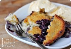 Texas-Style Blueberry Cobbler. I would love to sub with Raspberries or Peaches!!! Mmm!!!!!!