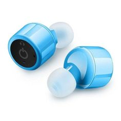 Mini Truly Wireless Bluetooth Headphones Earbuds Stereo Earphones with Microphone for iPhone, Samsung, Android, iOS (Blue Bluetooth Headphones, Wireless Headphones, Sport Earbuds, Wireless Speakers, Mobile Accessories, Iphone Accessories, Noise Cancelling Earbuds, Iphone Hacks, Electronics Gadgets