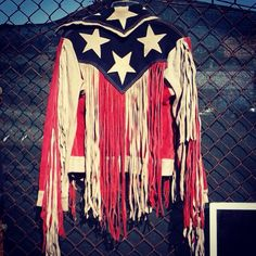 Oh my god yes! Vintage fringe American flag suede leather beautiful jacket 60s