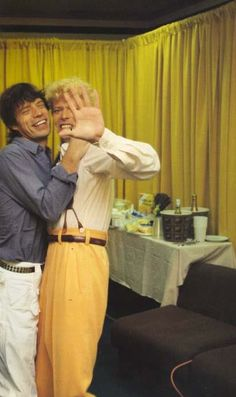 Jagger and Bowie backstage