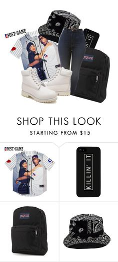 """Slay All Day"" by queen1727 on Polyvore featuring LG, JanSport, Timberland, women's clothing, women, female, woman, misses and juniors"