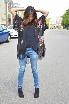 kimono target skinny jeans gap back to school outfit booties fall outfit ombre hair medium length hair brunette casual outfit xomrsmeasom xo mrs measom