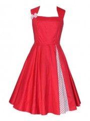 Polka Dot Delightful Square Neck Skater-dress