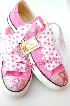 13caa6550690 custom designed swarovski crystal converse sneakers for teens and adults  zebra stripes breast cancer awareness ribbon pink swirl leopard