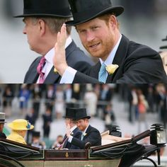 #RoyalAscot  HRH Prince Henry (Harry) of Wales and the Royal family attended day 1 of Royal Ascot (thoroughbred horse racing) in Ascot, Berkshire, England.  14th June, 2016