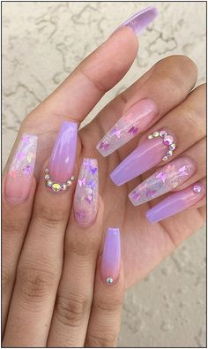 Cute Acrylic Nails 811562795334999841 - Awesome New Year Best Ombre Nail Ideas . - Cute Acrylic Nails 811562795334999841 – Awesome New Year Best Ombre Nail Ideas for 2020 – Page - Purple Acrylic Nails, Purple Ombre Nails, Coffin Nails Ombre, Clear Acrylic Nails, Summer Acrylic Nails, Spring Nails, Summer Nails, Ombre Hair, Ombre Nail Polish