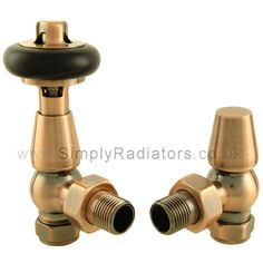 Traditional thermostatic radiator valves.  Eco friendly and beautiful too.