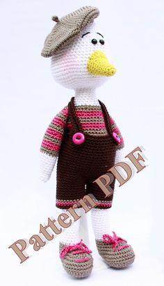 Pattern amigurumi Canard au crochet : Tutoriels de fabrication par marygurumi
