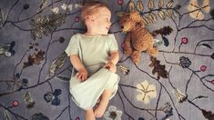 ) / x ft/ 140 x 175 cm/ designed by Mimmi Blomqvist for Junior Monarch Best Weave, Kids Decor, Home Decor, Kidsroom, Hand Knotted Rugs, Biodegradable Products, Bloom, Nursery