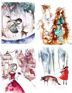 fairytale series 8.5x11 print pack (nursery/playroom decor)
