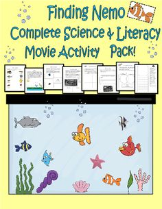 Finding Nemo Complete Movie Activity Pack! #editableprintables #freeprintables