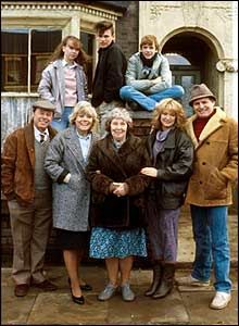 Beales and Fowlers, 1985. The late David Scarsboro, who orginally played Mark Fowler, is top row, center.