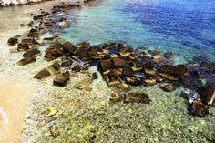 Beautiful coast line in Siracusa, Sicilia.