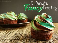 5 Minute Fancy Frosting - how to quickly frost with store bought frosting & look fancy. (Homemade frost works too!)