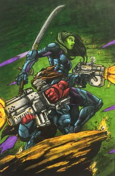 Guardians of the Galaxy Marker Value; Ink Color, Guardians Of The Galaxy, Marker, Mad, My Arts, Pencil, Comic Books, Comics, Projects