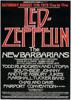 Hake's - LED ZEPPELIN & THE NEW BARBARIANS KNEBWORTH FESTIVAL…