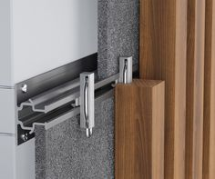 Timber Click-on Battens Tech Info - Sculptform Timber Battens, Timber Cladding, Furniture Hardware, Home Decor Furniture, Wall Partition Design, Cladding Systems, Internal Design, Japanese Joinery, Wood Joints