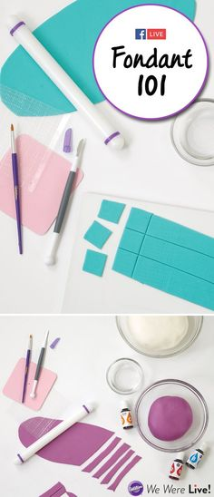 Fear fondant no more! Click to watch this special Facebook Live episode to learn the basics of working with fondant for cake decorating. In this episode, we'll show you how to color, marble, transfer fondant letters, and make a fondant bow.