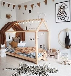 kleinkind zimmer Montessori toddler beds are amazing kids teepee wood house bed for children. Adorable children furniture will make transitioning from a nursery bed or baby bed to a c
