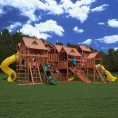 Wow.  Little boy heaven.  Gorilla® Metropolis Premium Play Systems. Got an extra $19,000 lying around? :P