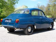 Saab 96 1970 - color Caroline blue - engine 2.3 V6 -