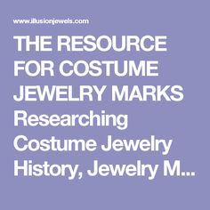 Researching Costume Jewelry >> 43 Best 0 Jewelry Research Sites And Info Images On Pinterest
