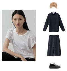 """Fresh look"" by l-jane ❤ liked on Polyvore featuring Uniqlo and Acne Studios"