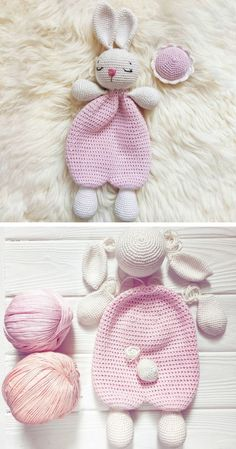 Crochet Baby Toys, Crochet Teddy, Easter Crochet, Crochet Animals, Crochet Dolls, Baby Knitting, Knit Crochet, Crochet Bunny Pattern, Crochet Rabbit