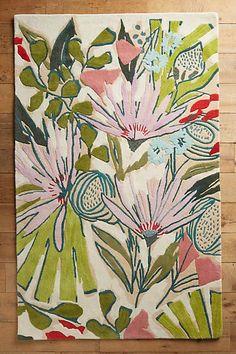 pretty floral rug // Lulie Wallace Purple Garden Rug // pop of color // girl room // nursery // tween roon // teen room // Art Floral, Floral Rugs, Floral Flowers, Florals, Painting Inspiration, Art Inspo, Tapete Floral, Purple Garden, Guache