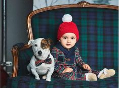 Shop The Family Dog Series at Janie and Jack. Matching looks for everyone's bestfriend. Puppy love in matching plaid. | Newborn | Girls plaid dresses | Boy plaid suits | Dog plaid coats and accessories  #afflink