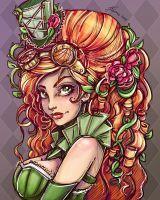 Steampunk Ivy Portrait by NoFlutter
