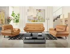 Make Your Living Room Beautiful With This Leather Sofa Set Bella Modern Genuine Leather Sofa