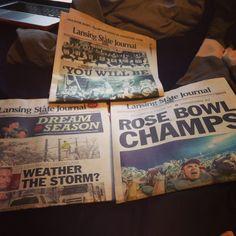 Spartans... Rosebowl champs... Lansing state journal