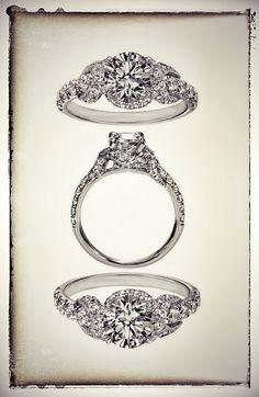 Infinity Halo Diamond Engagement ring