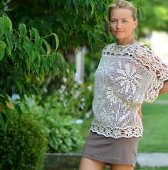 Outstanding Crochet: My new project. Crochet Daisies Cover Up.