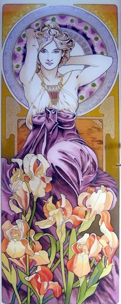 New Art Nouveau Tattoo Mucha Illustrations Ideas Motifs Art Nouveau, Art Nouveau Mucha, Art Nouveau Tattoo, Design Art Nouveau, Alphonse Mucha Art, Art Nouveau Poster, Art Design, Tattoo Art, Arte Pop
